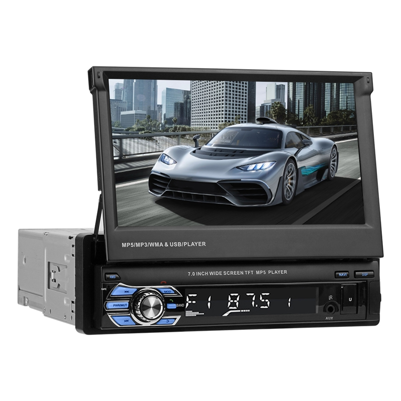 VODOOL Foldable 7 Touch Screen Car Stereo MP5 Player 1080P HD GPS Navigation Bluetooth Video Audio