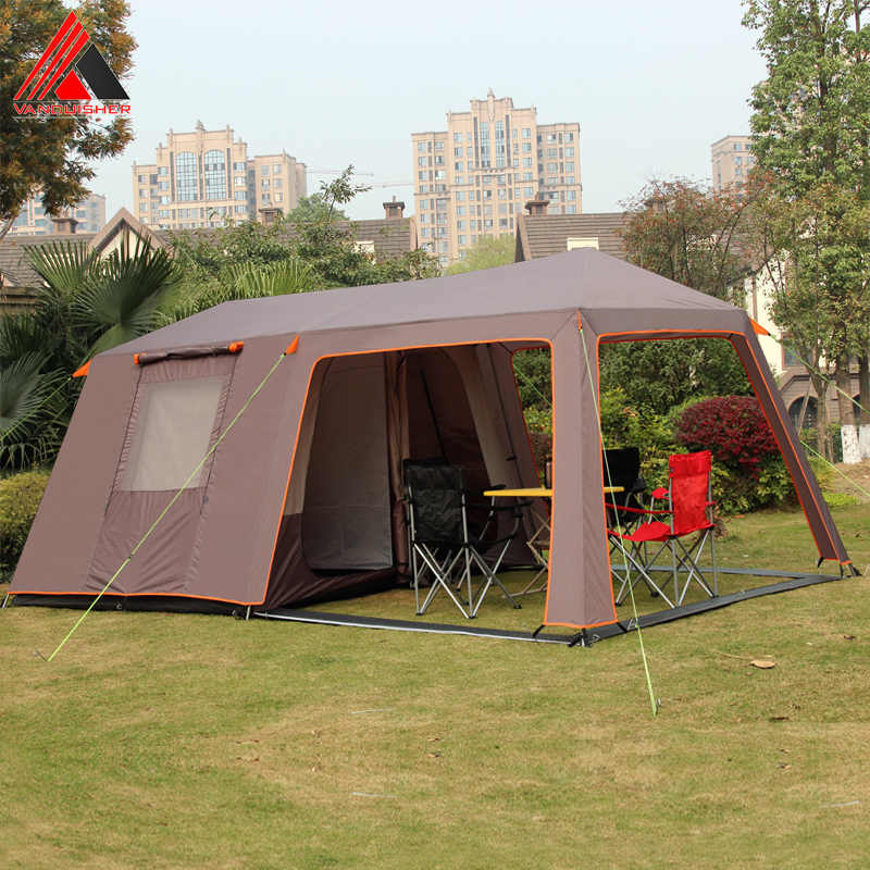 Vanquisher Large Space One Hall Two Bedrooms Waterproof Windproof Family Party Camping Tent With Top Good Quality Tents Aliexpress