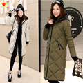 Plus Size Casual Women Down Coat 2016 Winter Jacket Fashion Hooded Thick Elegant Down Jacket Slim Long Parkas Korean Hot Sale