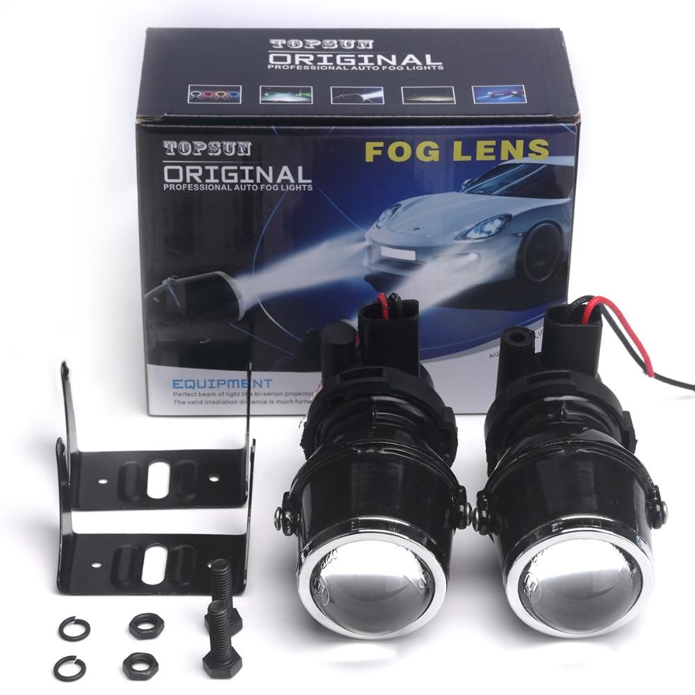 12V 55W H3 Halogen Bulbs Warm White Metal Clear Glass Fog Light Projector Lens H3 Fog Lights For Car Auto Fog Lamp Headlight