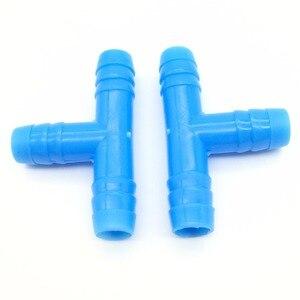 Image 5 - 50 adet 8mm dikenli Tee konnektör sulama sistemleri parçaları 8mm hortum bahçe sulama sistemi yeşil ev