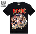 2015 New design High Quality 100% cotton Metallica Rock band men T-shirt fashion street hip hop t shirt AC DC t-shirt for men