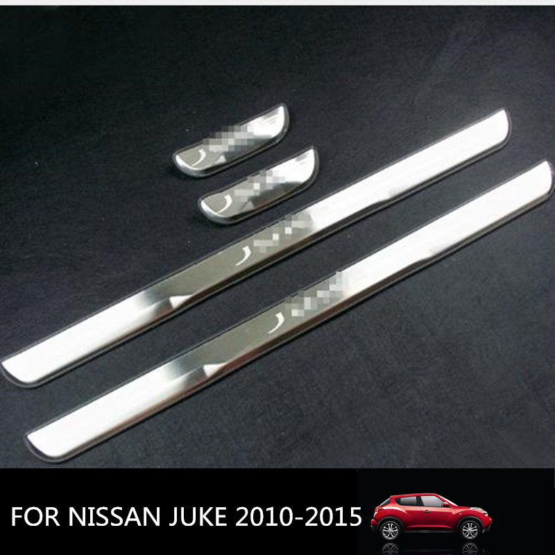 Car Door Sill Plate Cover For JUKE 2010-2018 Stainless Steel Door Sills Scuff Plates fit for NISSAN JUKE 2015