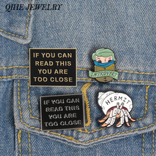 QIHE JEWELRY Introverts Enamel Pins Introvert memes Pins Funny Quote Badges Socially Awkward Lapel pin INFJ Jewelry(China)