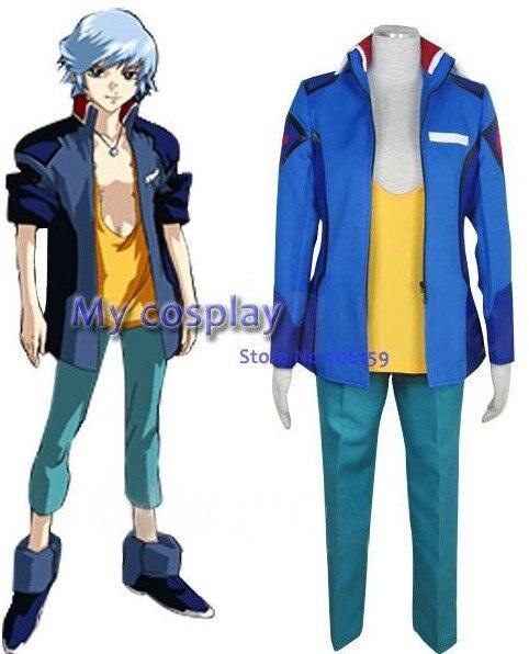 Gundam Seed Male Uniform Cosplay Costume Unisex For Halloween Men Coat Clothing Full Suit