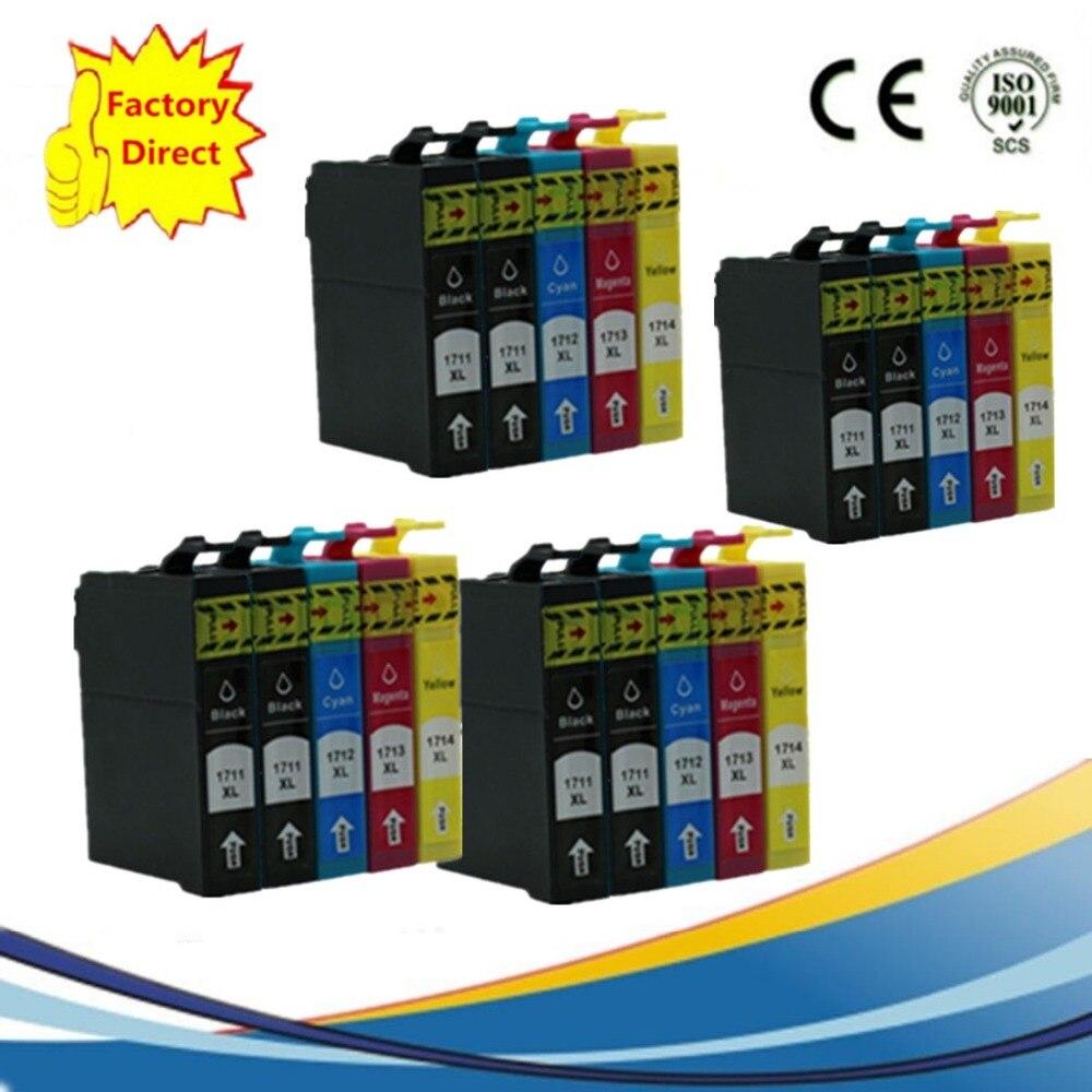 20 Paket T0711 T0714 Tintenpatronen Für Epson Stylus SX600FW BX300F S21 SX110...