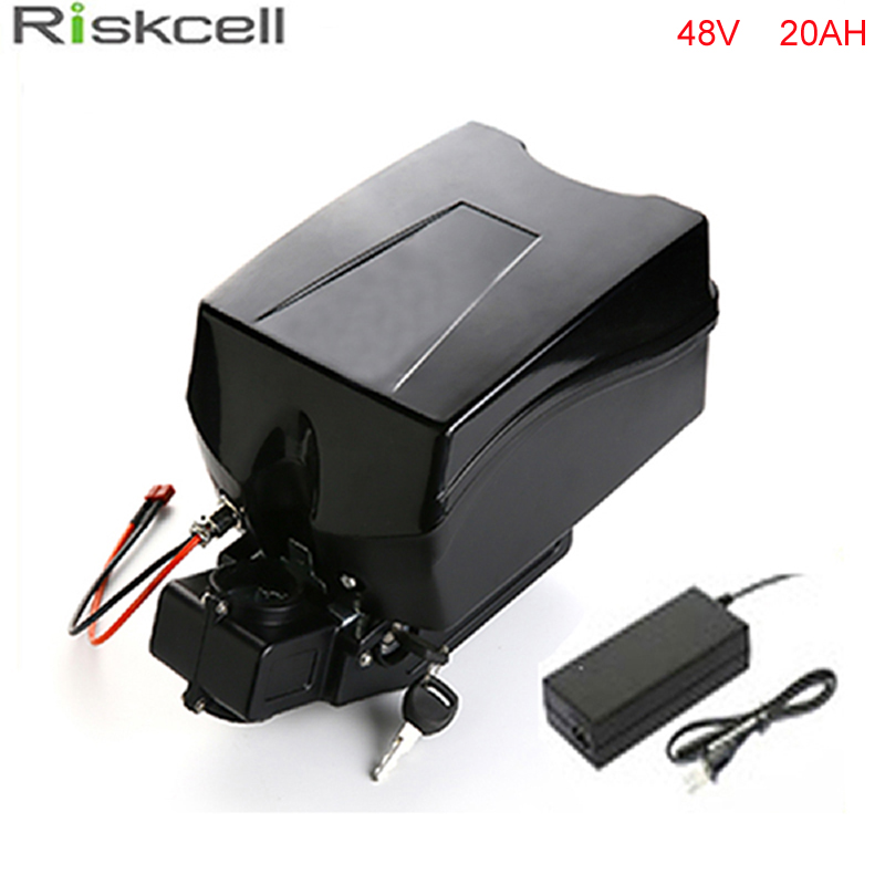 Frog case  electric bike battery 48v 20ah lithium ion battery for bafang 750w 1000w 48v bafang fun motor with charger BMS free customs taxes electric bike 36v 40ah lithium ion battery pack for 36v 8fun bafang 750w 1000w moto for panasonic cell