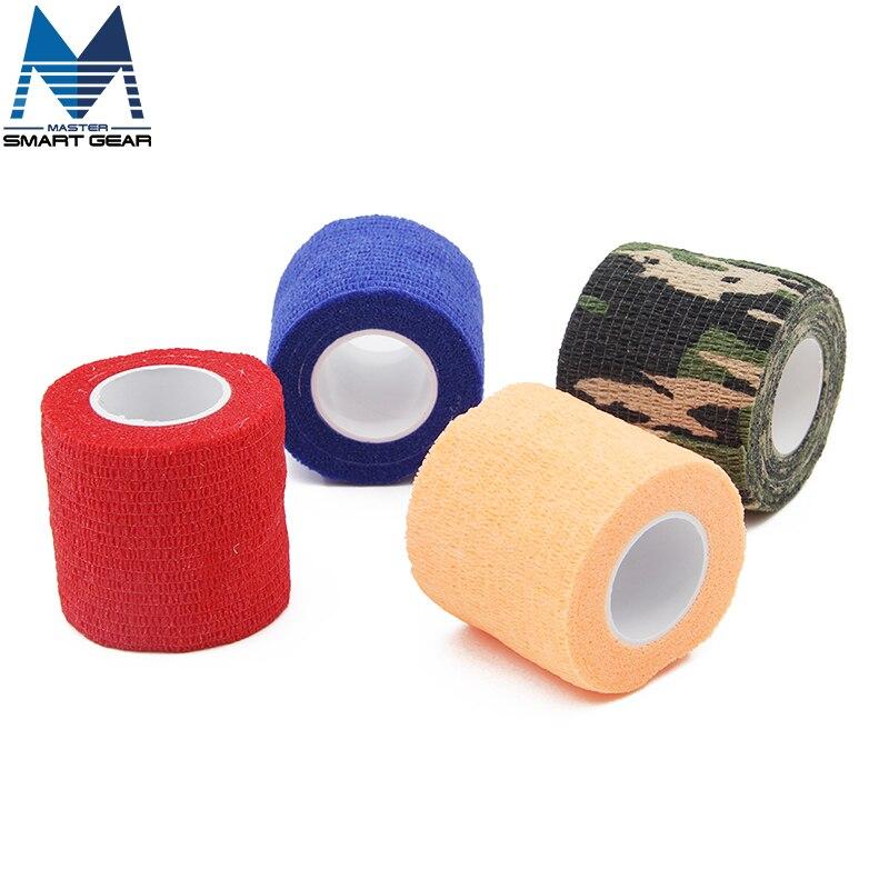 Prix pour 6 Rouleaux 5 cm x 5 m Étanche Auto-Adhésif Bandage Bande Articulations Des Doigts Wrap Cohésif Bandage Auto AdherentWrap Sport
