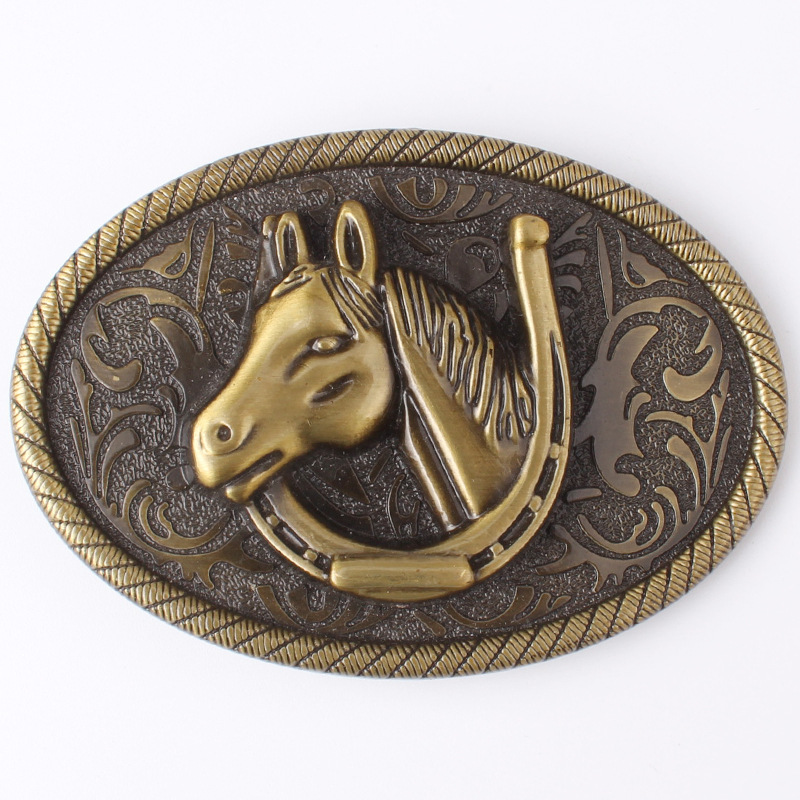 Simple Horse Head Belt Buckle Alloy Belt Buckle