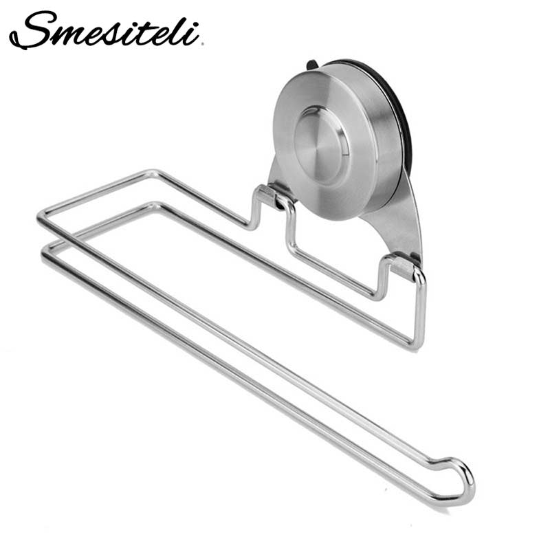 Bathroom Fixtures Bathroom Hardware Cheap Price Shamanda Sus 304 Stainless Steel Kitchen Bathroom Towel Dispenser 3m Stick Suction Cup Toilet Paper Holder Polished Finished