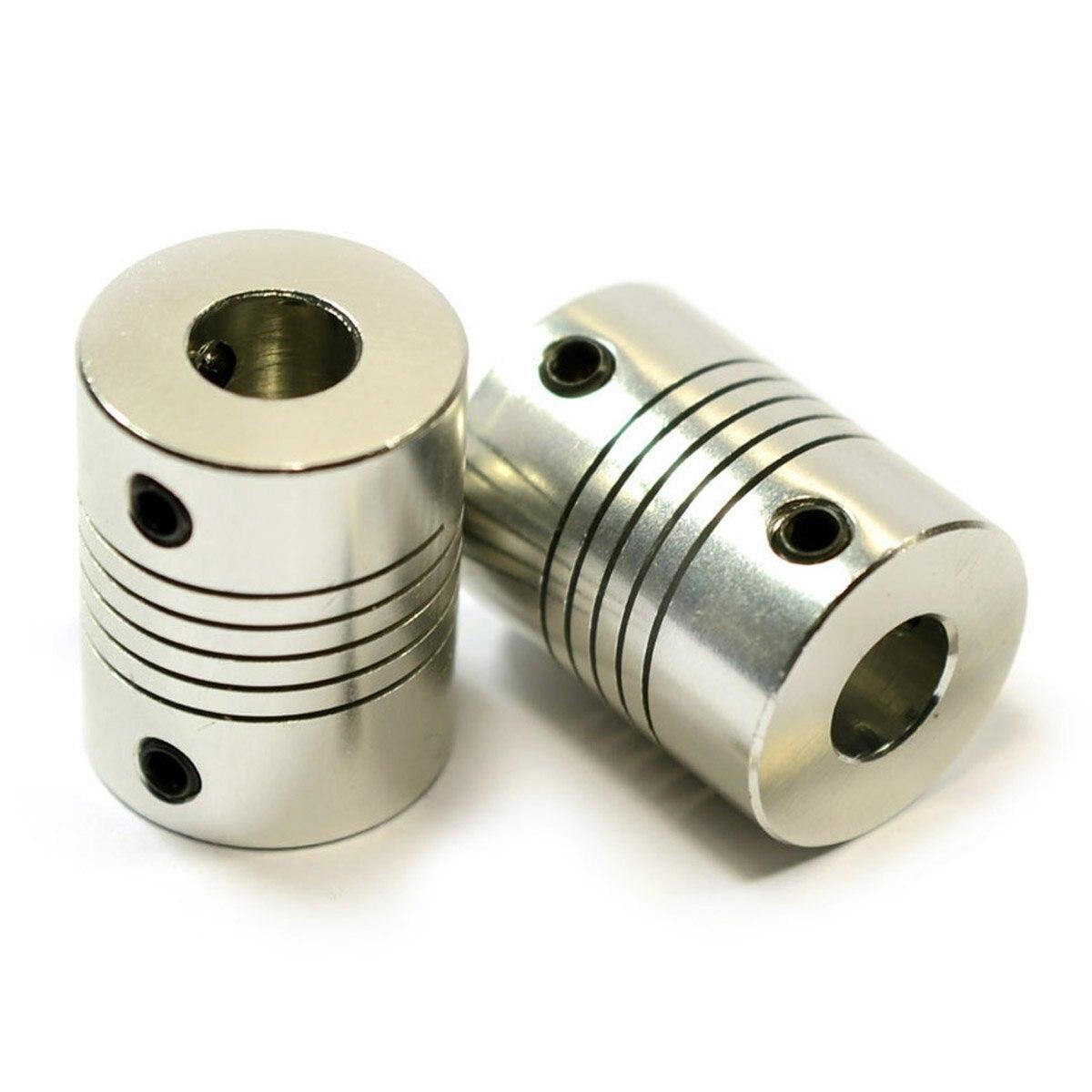 2 flexible Kupplungen Schaft f/ür RepRap 3D-Drucker oder CNC-Maschine NEMA 17 5/mm auf 8/mm