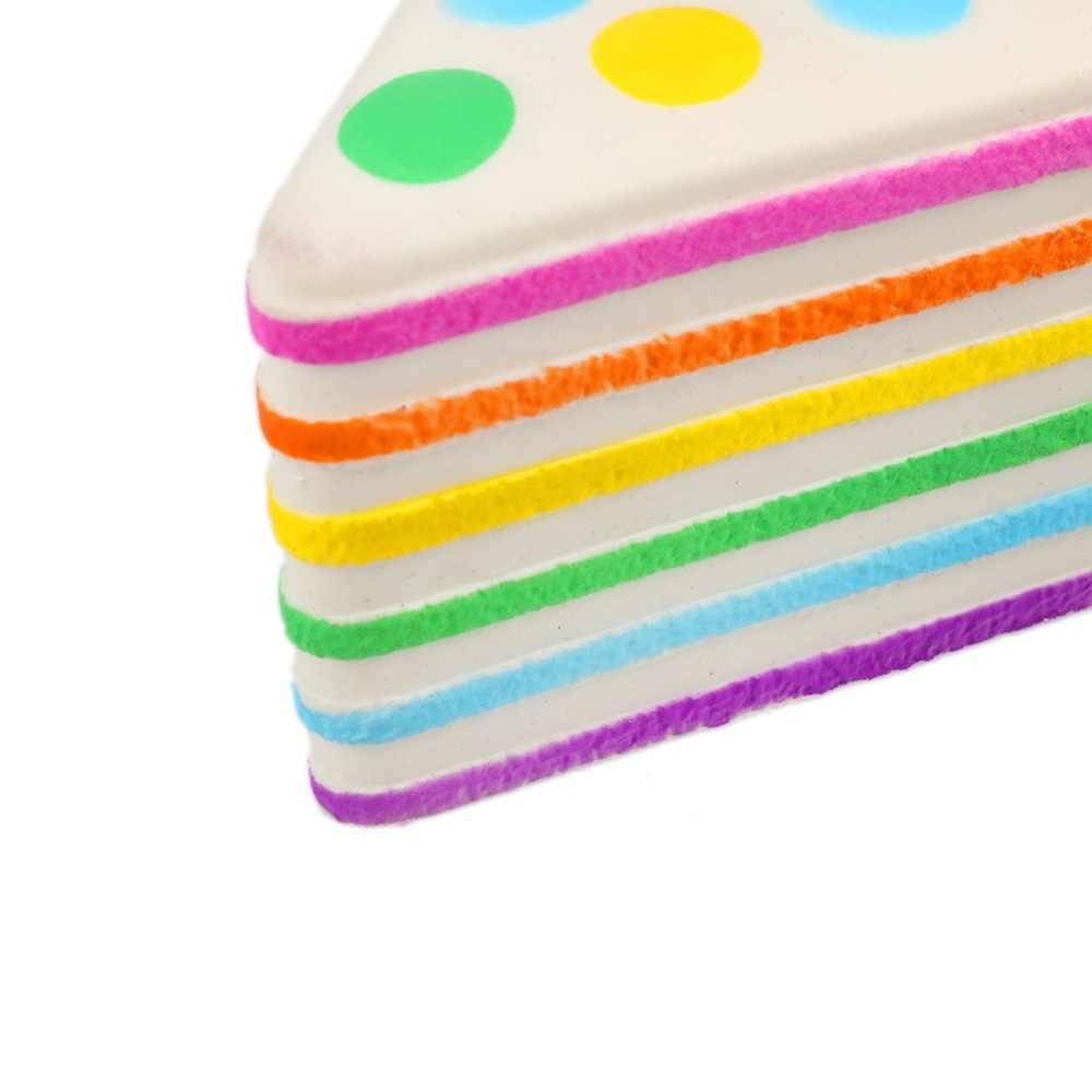 Rainbow kropka ciasto dekorowanie wycisnąć zabawki sztuczne Kawaii łańcuszek do telefonu stres Stretch Squeeze urok wisiorki zabawki