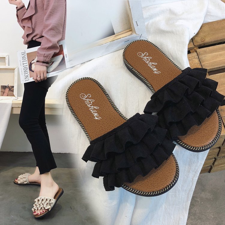 Brand Ksyoocur 2018 New Ladies Slippers Shoes Casual Women Shoes Comfortable Spring/autumn/summer Women Slippers Shoes 18-014 women s shoes 2017 summer new fashion footwear women s air network flat shoes breathable comfortable casual shoes jdt103