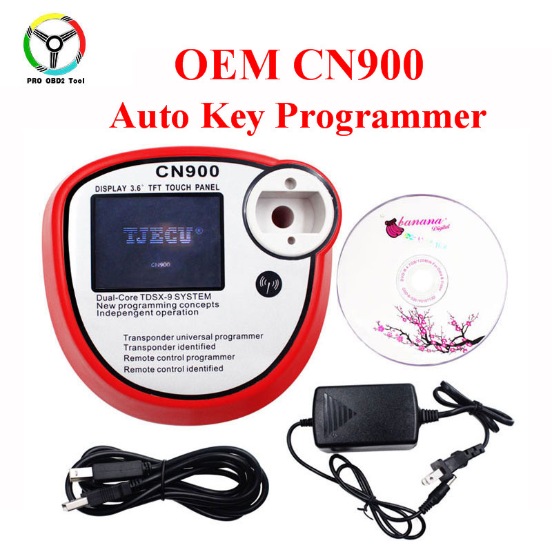 2018 Newly CN900 Auto Key Programmer OEM CN 900 Transponder Universal Chip CN 900 Car Key Maker Copy 4C and 4D Chips DHL Free