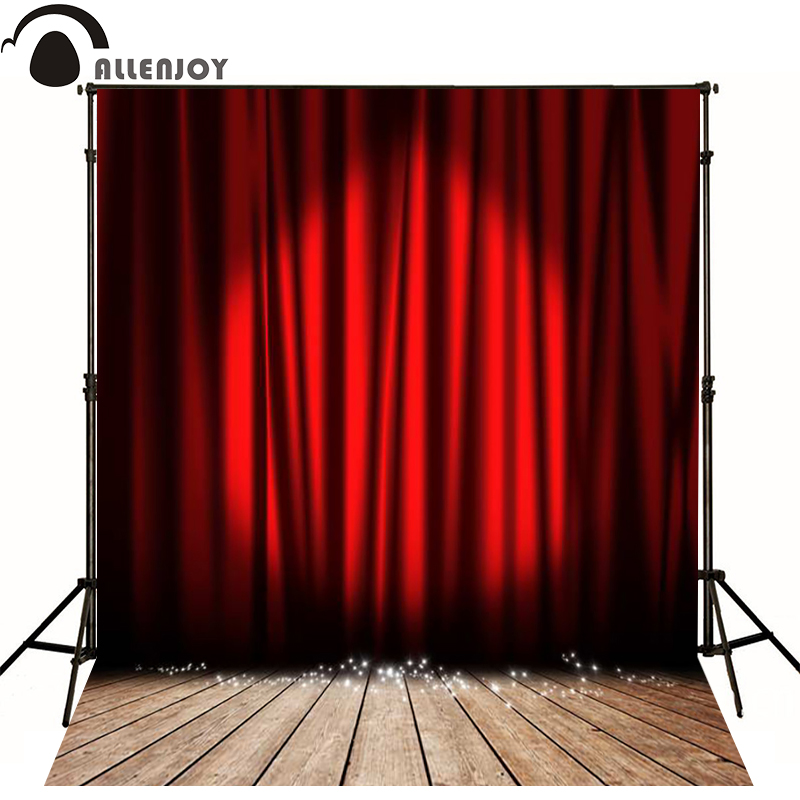 Allenjoy Photographic Background Plank Red Curtain Stage Lighting Photo  Backdrops For Sale Photography Fantasy High Quality