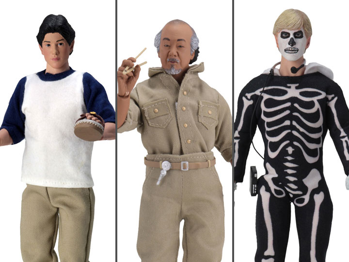 Neca The Karate Kid Daniel Mr. Miyagi Johnny CLOTHED 3-Pack Action Figure Toy