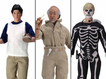 Neca The Karate Kid Daniel Mr. Miyagi Johnny CLOTHED 3-Pack Action Figure Toy - DISCOUNT ITEM  0% OFF All Category