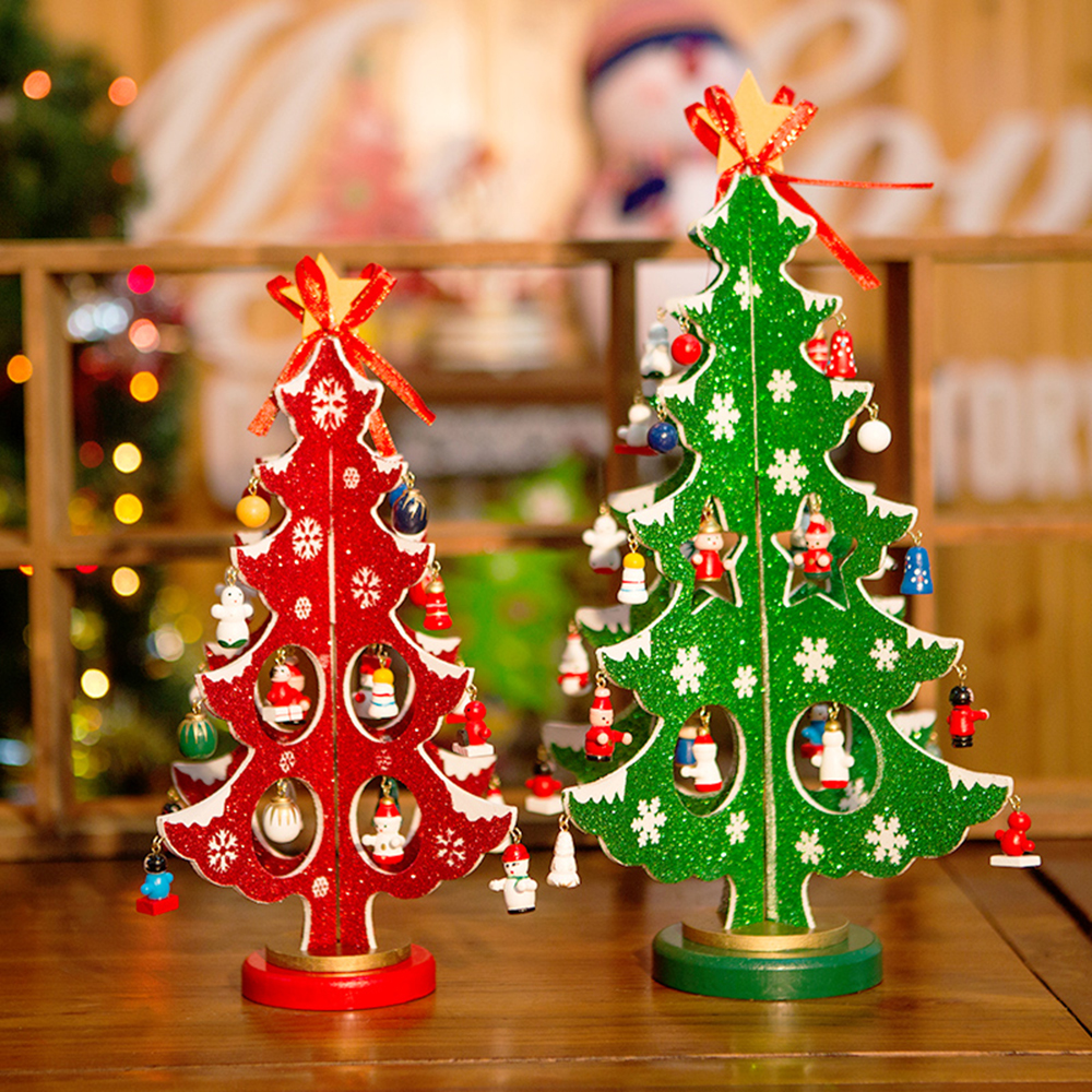 Creative Christmas Decorations Wooden Christmas Tree Ornaments ...