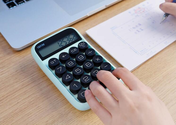 3 colors Xiaomi Loffee Calculator Vintage Decompressed detachable keycap intelligent shutdown student office calculation tool (9)