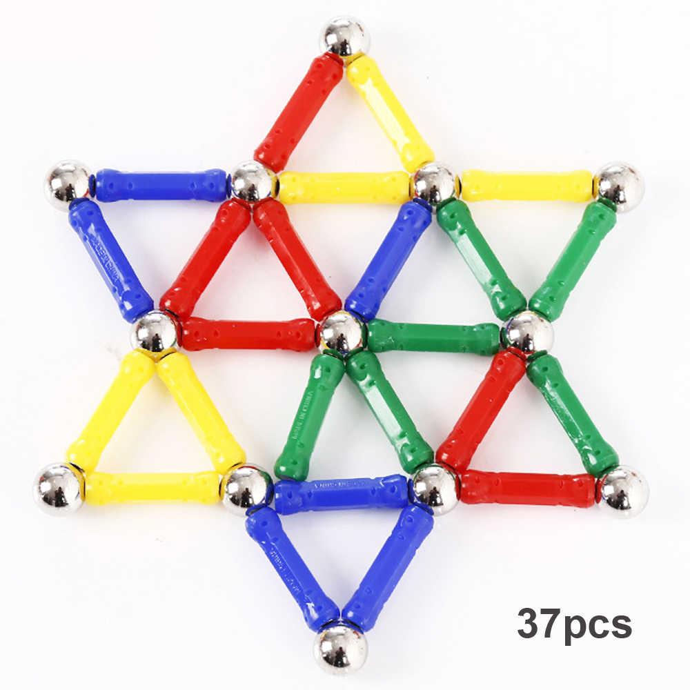 37/47 шт магнитные палочки металлические шарики Магнитная строительные блоки Строительство игрушки развивающие игрушки для детей Подарки