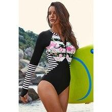 Женский купальный костюм Rashguard для взрослых, цельный, с длинными рукавами, защита от солнца, пляжный купальник, дайвинг, серфинг, купальный костюм