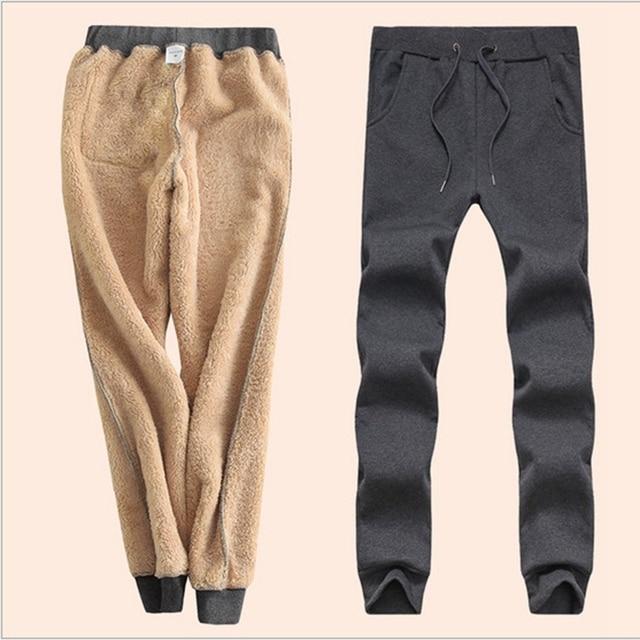 9f8d974a61c 2018 Winter Cashmere Harem Warm Pants Women s Velvet Thick Lambskin Cashmere  Pants For Women loose Winter