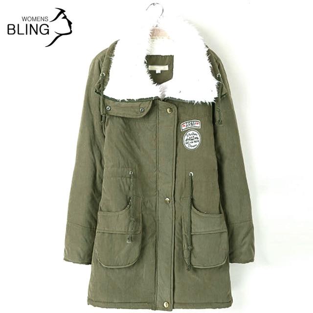 Super Deal Parkas Outono Europeu Nova Moda Feminina Casaco Longo Casaco Quente Casacos Espessamento Coats Cotton