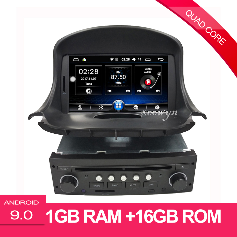 Quad Core Android 9.0 Car DVD GPS for PEUGEOT 206 206cc Navigation,Bluetooth,Radio,IPOD,CAN BUS,Stereo,head unit,Audio,Video