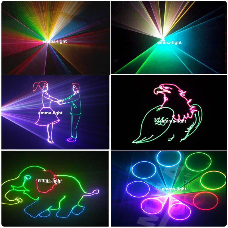 US $320 0  High Power Advertising Laser dmx ilda 512 laser 1w 1 2w Rgb  Animation 3d Laser DIY Logo Projector-in Stage Lighting Effect from Lights  &