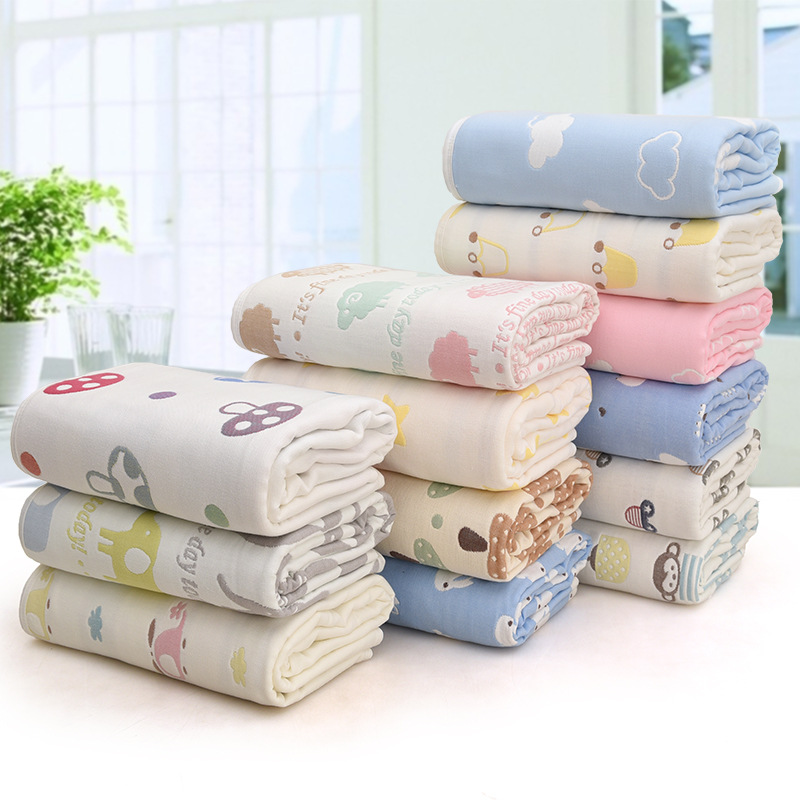 120*150cm Parent-child Baby Summer Bedding Sofa Quilt 100% Cotton Baby  Blanket Child Quilt 6 Layers Muslin Swaddle For Newborns