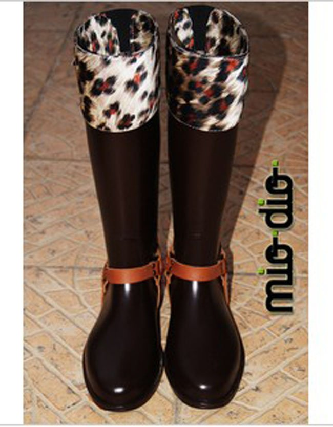 Online Shop Asian MIODIO Fashion Knee High PVC Rain Boots with ...