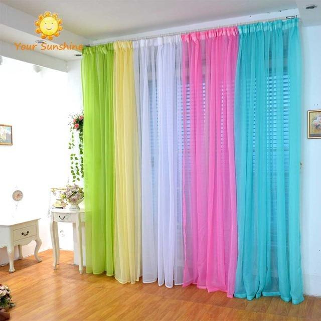 Blinds Tulle Window Curtain Rideaux Chambre Vliegen