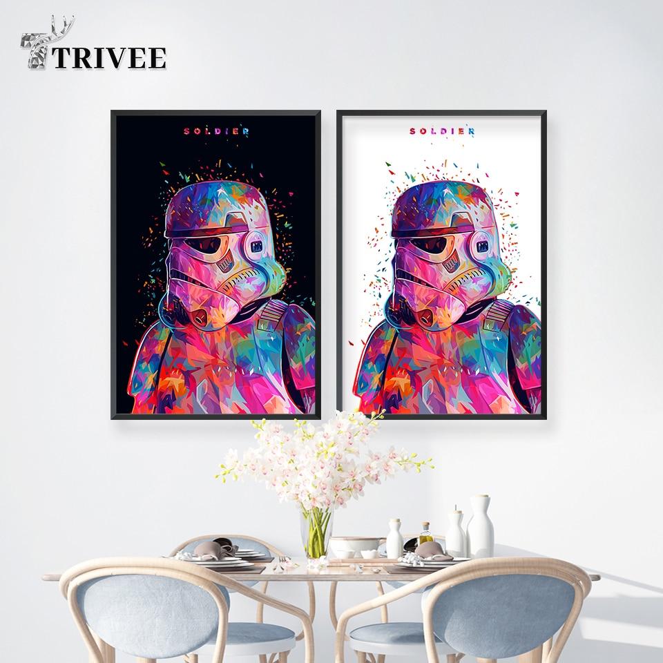 "Stormtrooper Star Wars 7 Force Awakens Movie Art Silk Poster 13x20 24x36/"" 138"