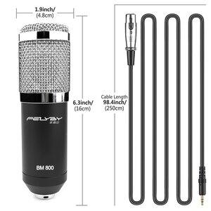 Image 2 - FELYBY BM 800 mikrofon kondensator mit soundkarte und webcam für computer studio aufnahme karaoke 800 mic