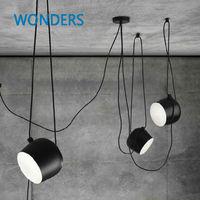 Современные Nordic моды DIY личность железа подвесной светильник ресторан кафе подвесной светильник цветок Барабаны бар Освещение светильник