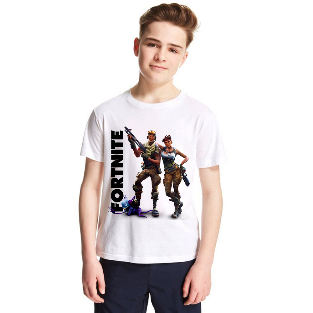 1-12yrs Girls Boys Game Fortnite T Shirt Kids T-shirt Child Unisex Fashion Casual Tops Baby Brand Tee for Toddler Summer Clothes