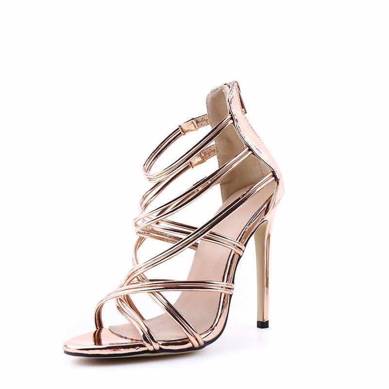 2019 kadın ayakkabı yaz yüksek topuklu sandalet gelin düğün ayakkabı sivri burun yüksek topuklu ayakkabı bayan platformu çapraz kravat sandalet