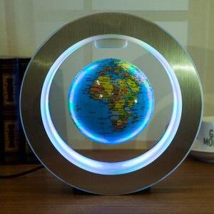 Image 5 - Nieuwe Novelty Decoratie Magnetische Levitatie Zwevende Globe World Map Met Led Licht Met Electro Magneet En Magnetische Veld Sensor