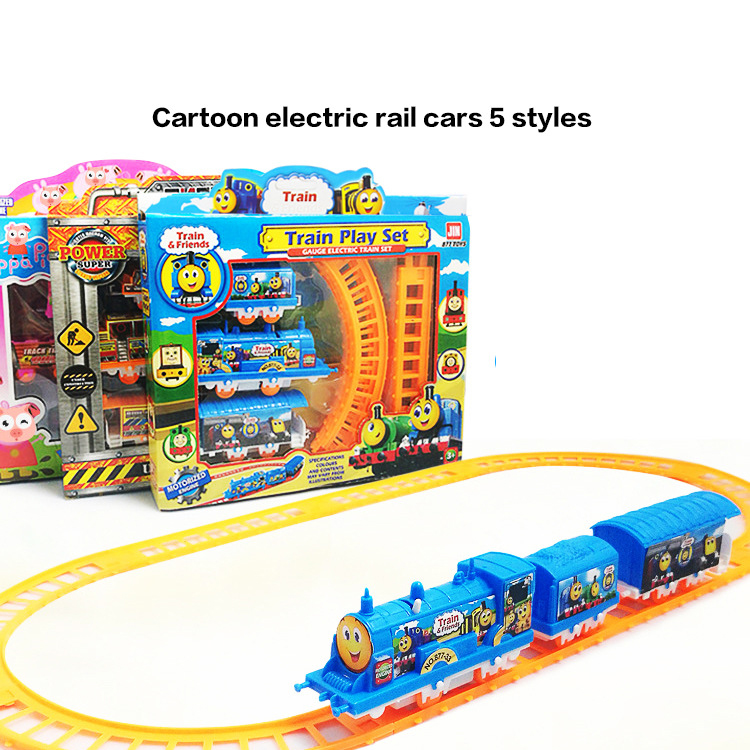 Hot Train & Friend Play Set Assembly Cartoon Animals Electric ABS Rail Cars 5 Styles For Children Education Birthday Gifts image