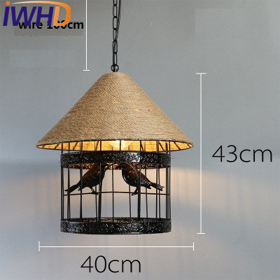 IWHD Industrial Loft Style Rope Droplight Edison Vintage Pendant Light Fixtures Dining Room LED Hanging Lamp Home Lighting loft vintage edison glass light ceiling lamp cafe dining bar club aisle t300