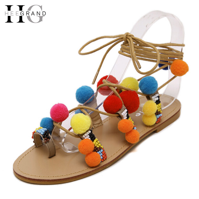 Summer Ball Gladiator Sandals 2016 Cute Flip Flops Platform Shoes Woman Slip On Flats Colorful Casual Women Shoes XWZ3258 phyanic crystal shoes woman 2017 bling gladiator sandals casual creepers slip on flats beach platform women shoes phy4041