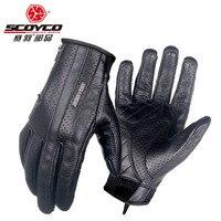 2018 Summer New SCOYCO Motorcycle Comfortable Gloves Riding Locomotive Retro Summer Breathable Touchscreen Motorbike Gloves MC50