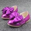 WENDYWU ГОРЯЧАЯ марка девушки кожаные ботинки принцесса обувь бабочка свадьба baby обувь для девочек розовый зеленый золотая роза подходит 1-3Y