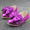 WENDYWU HOT brand girls leather shoes princess butterfly shoes wedding party baby girls shoes pink green golden rose fit 1-3Y
