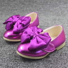 WENDYWU HOT brand girls leather shoes princess butterfly shoes wedding party  baby girls shoes pink green 094699afa5f8
