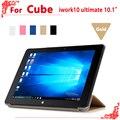 """Высокое качество Оригинала PU Кожаный Чехол для Cube iwork10 окончательный 10.1 """"tablet pc, iwork10 ultimate чехол"""