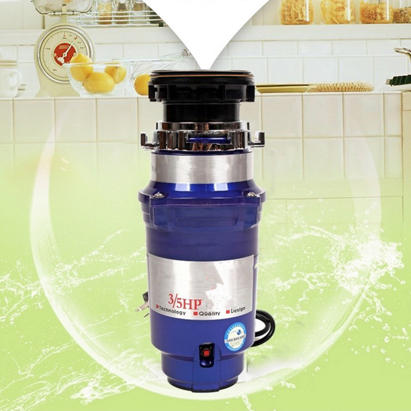 Free shipping 220V kitchen food waste disposer with overload protection and air switch butterfly shape flat compressor switch overload protection switch