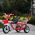 12 дюймов дети трицикл близнецы ребенок велосипедов сиденья двухместный трехколесный велосипед тандем trike