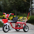 12 inch kids tricycle twins baby bicycle double seat tricycle tandem trike