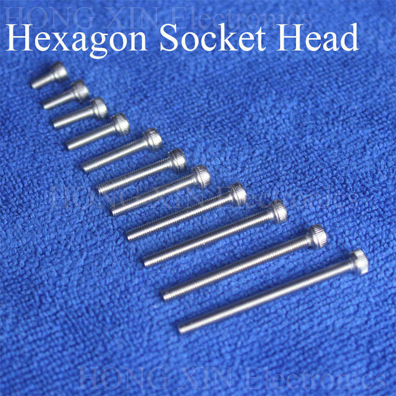 1 Pcs Topi Sekrup M3 304 Hexagon Socket Kepala Hex Soket Sekrup Furniture Metrik Sepeda Baut Cylinder Head Batin Hexagon sekrup